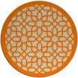 rug #1132879 | round orange geometry rug