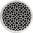 rug #1132883 | round black geometry rug