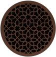 rug #1132895 | round brown borders rug