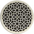 rug #1132903 | round black borders rug