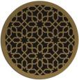 rug #1132907 | round brown borders rug