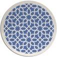 rug #1132927   round blue borders rug
