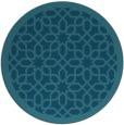 rug #1132947   round blue-green borders rug