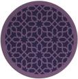 rug #1132975   round purple borders rug