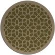 rug #1132991 | round brown borders rug
