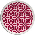 rug #1132995 | round red borders rug