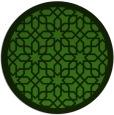 rug #1133019 | round green geometry rug
