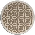 rug #1133035   round mid-brown borders rug