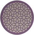 rug #1133063   round purple borders rug