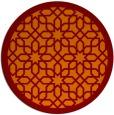 rug #1133087 | round orange borders rug