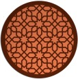 rug #1133099 | round orange borders rug