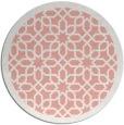 rug #1133115 | round white geometry rug