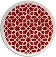 rug #1133135 | round red borders rug