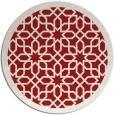 rug #1133143 | round red borders rug