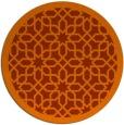 rug #1133151 | round red-orange borders rug
