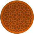 rug #1133159 | round red-orange borders rug