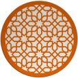 rug #1133163   round red-orange geometry rug