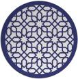 rug #1133175 | round blue borders rug