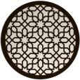 rug #1133179 | round brown borders rug