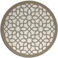 rug #1133191 | round beige borders rug