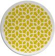 rug #1133203 | round yellow geometry rug