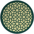 rug #1133211 | round blue-green geometry rug