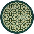 rug #1133211 | round yellow borders rug