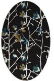 rug #1134011 | oval black natural rug
