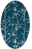 rug #1134051 | oval blue-green rug