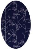 rug #1134067 | oval blue-violet rug