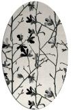 rug #1134127 | oval black natural rug
