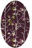rug #1134227   oval purple natural rug
