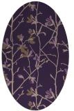 rug #1134231 | oval purple rug
