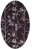 rug #1134235 | oval purple natural rug