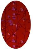 rug #1134251 | oval red rug
