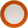 rug #113429 | round plain red-orange rug