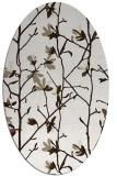 rug #1134295 | oval white natural rug