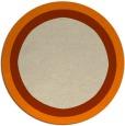rug #113477 | round plain orange rug