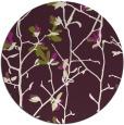 rug #1134963 | round purple natural rug