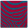 rug #1135575 | square blue-green stripes rug