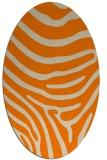 rug #1135823 | oval orange stripes rug