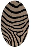 rug #1135835 | oval beige animal rug