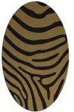rug #1135851 | oval brown stripes rug
