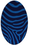 rug #1135855 | oval blue animal rug