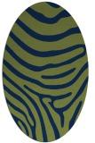 rug #1135867   oval green animal rug