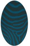 rug #1135887 | oval blue animal rug