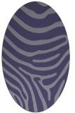 rug #1135911 | oval blue-violet stripes rug