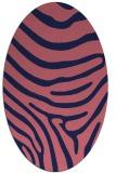 rug #1135915 | oval pink animal rug
