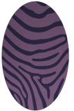 rug #1135919 | oval purple animal rug