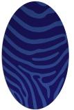 rug #1135923   oval blue-violet animal rug